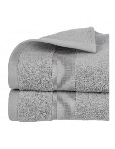 Toalla de rizo 450g color gris 70x130