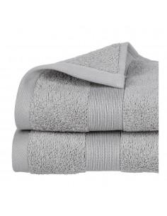 Toalla de rizo 450g color gris 30x50