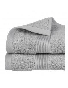 Toalla de rizo 450g color gris oscuro 100x150