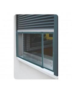 Mosquitera marco extensible para ventanas y persianas antracita 50x75-142cm