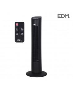 Ventilador torre negro 60w mando con a distancia edm