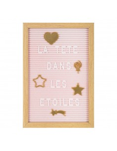 Tablero de letras infantil personalizable color rosa