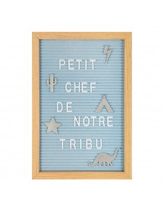 Tablero de letras infantil personalizable color azul