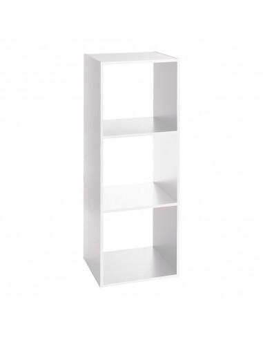 Estanteria madera color blanco para 3 cajas organizadoras 34.4x32x100.5cm
