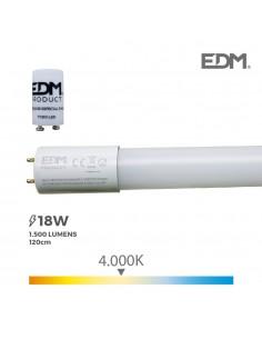 Tubo led t8 18w g std 1500 lm 4000k luz dia edm