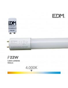 Tubo led t8 22w g std 1850 lm 4000k luz dia edm