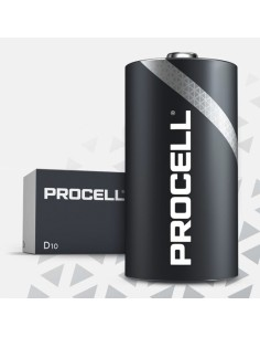 Pila alkalina lr20 duracell procell (retractil 10 unid.)