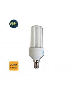 *ult.unidades* bombilla bajo consumo mini e-14 9w luz calida 3200k edm