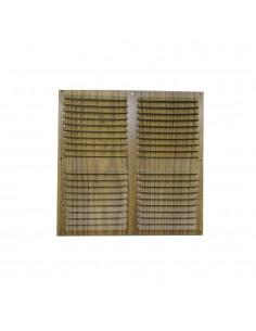 Rejilla plana ventilacion 300x300mm color madera oscura