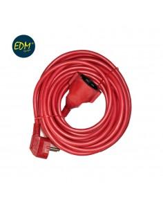 Prolongacion manguera t/tl 10mts 3 x 1,5  flexible roja edm