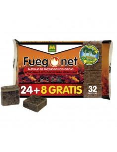 Pastillas de encendido - ecologicas - envase 24+8 unidades - fuegonet