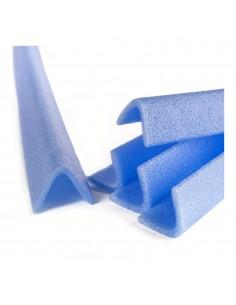 Blister 2 cantoneras esp de 1mts mod l50 azul