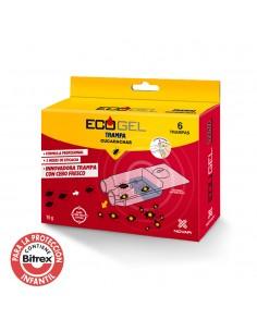 Ecogel cucarachas kit 6 trampas 15 grs.