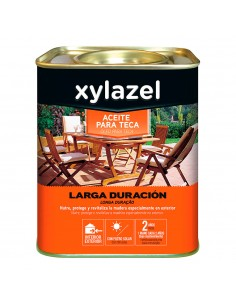 Xylazel aceite para teca larga duracion color teca ci 750ml