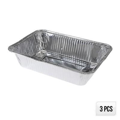 Set 5 moldes aluminio 22x15,5x4,5cm
