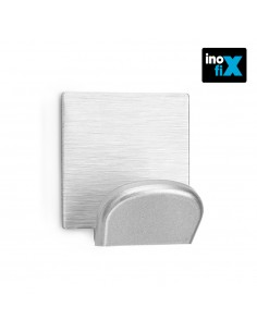 Colgador adhesivo cromo con base ade acero inox blister 2 uni inofix