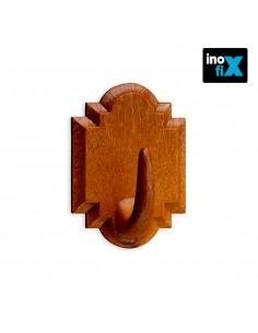 Colgador adhesivo madera blister 2 uni inofix