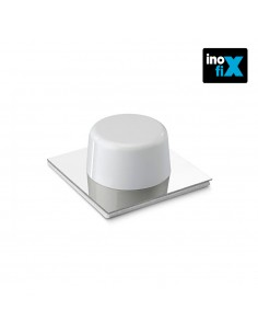 Tope adhesivo blanco-cromo blister 2 uni inofix