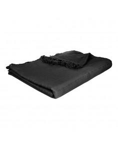 Manta para cama color negro 230x250cm