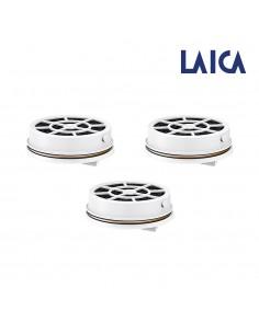 Pack 3 filtros para botella de agua filtracion instantanea flow'ngo laica