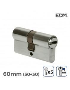 Bombin niquel 30x30mm 60mm con 3 llaves seguridad incluidas edm
