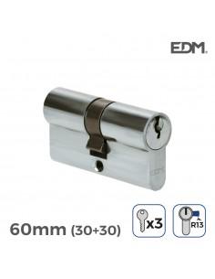 Bombin niquel 30x30mm 60mm leva corta con 3 llaves incluidas edm