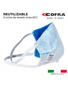 Mascarill semifacial reutilizable 100% poliester cofra healt mask