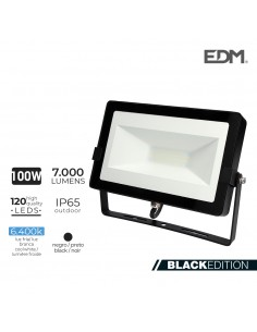 Foco proyector led 100w 6400k 7000 lumen  edm