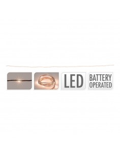 Cuerda de yute 1m 10 leds luz calida