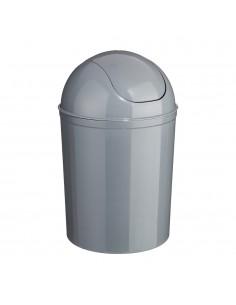 Cubo de basura color gris 7 litros