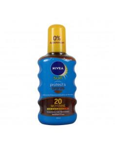Spray aceite solar nivea sun factor 20 protege e hidrata 200ml nivea
