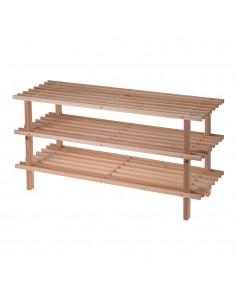 Zapatero madera 3 estantes