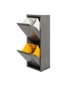 Armario metalico reciclaje 2 cajones gris