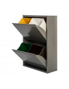 Armario metalico reciclaje 4 cajones gris