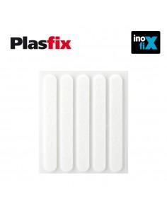 Pack 5 fieltros blanco sinteticos adhesivos 95x12mm plasfix inofix