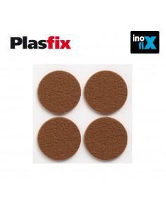 Pack 4 fieltros marron sinteticos adhesivos diametro 38mm plasfix inofix