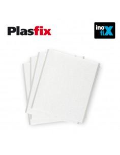 Pack 4 fieltros blanco sinteticos adhesivos 100x85mm plasfix inofix