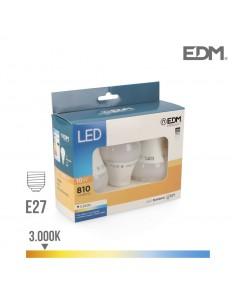 Kit 3 bombillas standard led e27 10w 810 lm 3200k luz calida edm