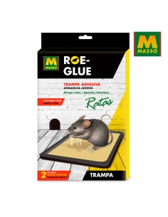 Roe-glue trampa adhesiva ratas 2 uni.
