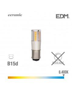 Bombilla bayoneta led b15d 5.5w 650 lm 6400k luz fria base ceramica edm