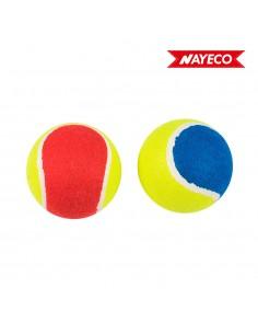 Pack 2ud pelota de tenis 6cm