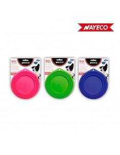 Plato de viaje de silicona 500ml colores surtidos