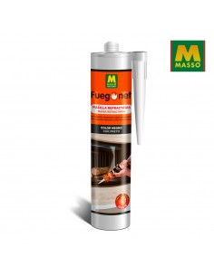Masilla refractaria negra 300 ml. fuegonet massó
