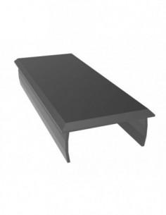 Tapa Aluminio 40X100 Negro