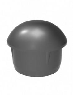 Tapa Aluminio Tubo 40Mm Negro