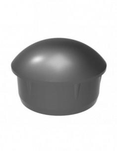 Tapa Aluminio Tubo 50Mm Negro