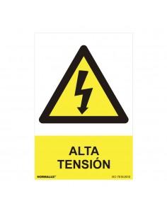 "Señal peligro ""alta tensión"" (pvc 0.7mm)  30x40cm"