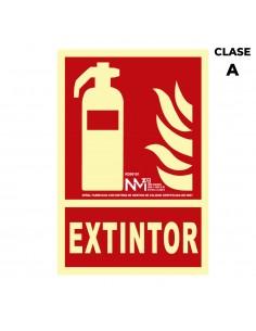 "Señal de extinción ""extintor"" clase a (pcv 1mm)  21x30cm"