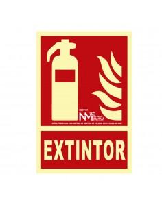 """Señal de extinción """"extintor"""" clase b (pcv 0.7mm)  21x30cm"""