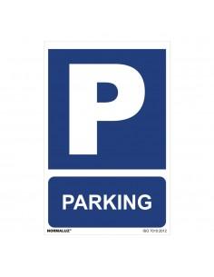 "Señal uso obligatorio ""parking"" (pvc 0.7mm)  30x40cm"